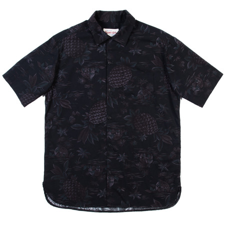 Freenote Cloth Freenote Hawaiian Shirt—Black Pineapple
