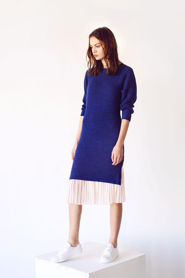 Cosette Cecilia Sweater Dress Royal Blue