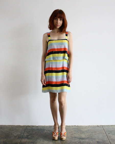 Dusen Dusen tiered tank dress - bricks