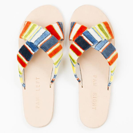 pam left pam right Wren sandal - multi stripe