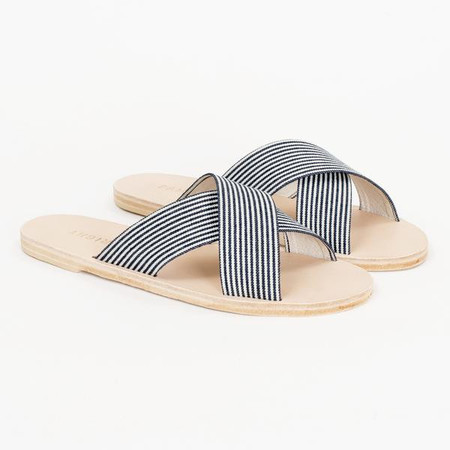 pam left pam right Wren sandal - navy stripe