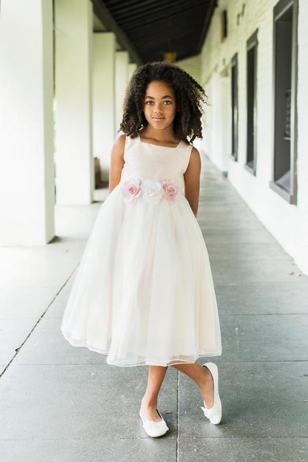 Kid's Dream Camilla Classic Flower Girl Dress - white