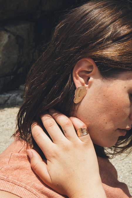 GARMENTORY EXCLUSIVE | Leigh Miller Rose Gold Plated Tall Wave Ring
