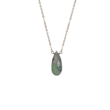 Strut Jewelry Chrysoprase Teardrop Necklace
