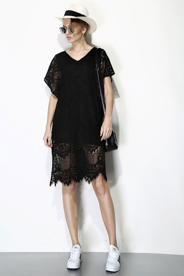 Few Moda Lace Hem Dress