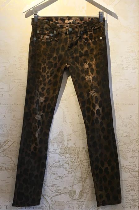 R13 Leopard Kate Skinny