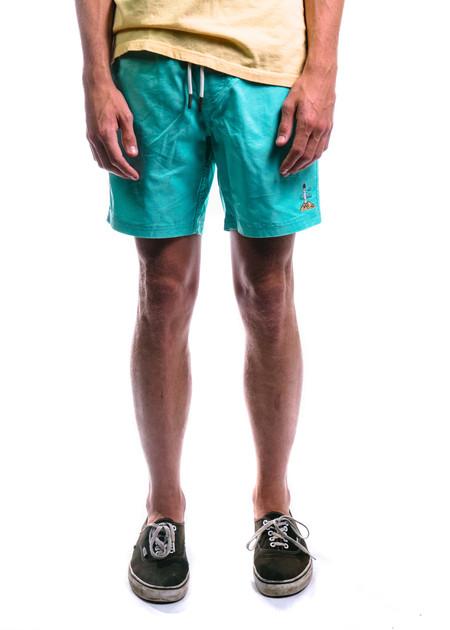 "Barney Cools Amphibious 17"" Swim Shorts (Aqua)"