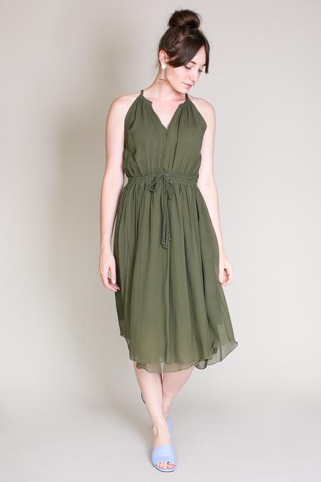 Apiece Apart Boronia shirred tank dress in loden