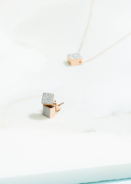 Ginette NY Baby Diamond Ever Studs