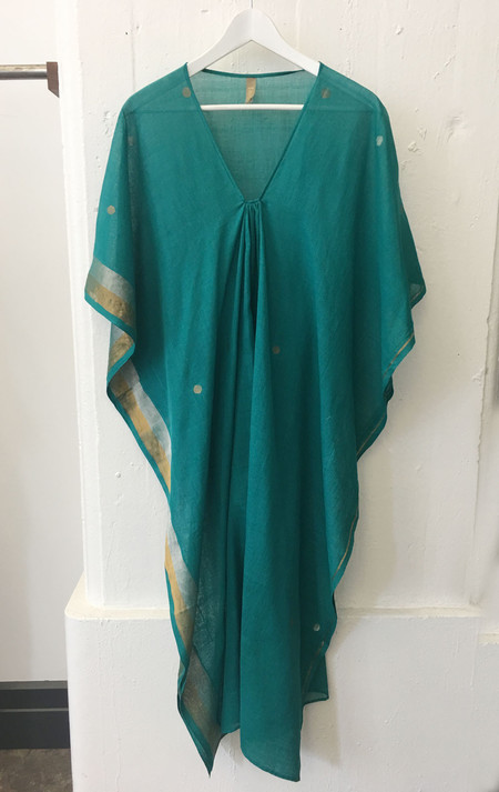 Two Emerald sari caftan