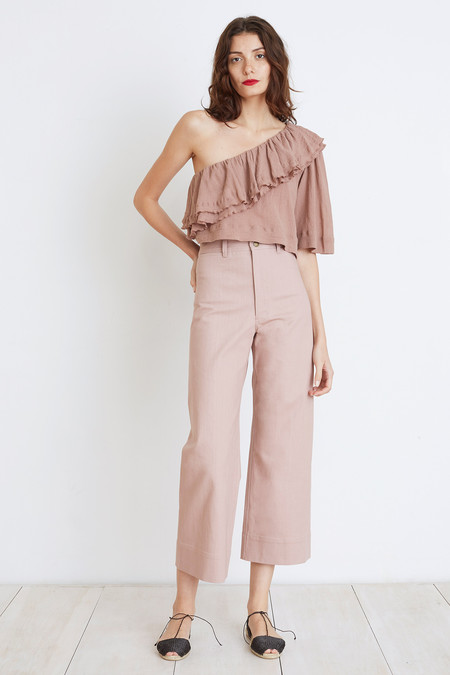 Apiece Apart BOTANICAL ONE-SHOULDER TOP