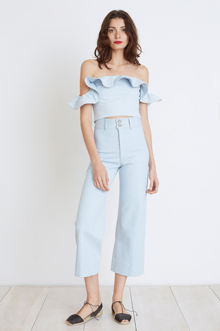 Apiece Apart FLORIAN OFF-THE-SHOULDER SMOCK TOP