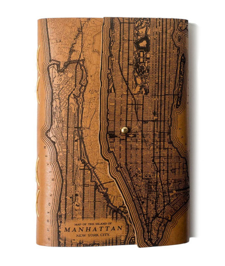Tactile Manhattan Map Journal