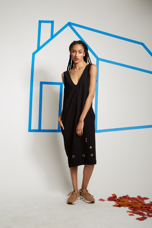 Nomia V-Neck Shift With Grommets