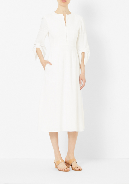 Tibi Ivory Marta Corset Dress