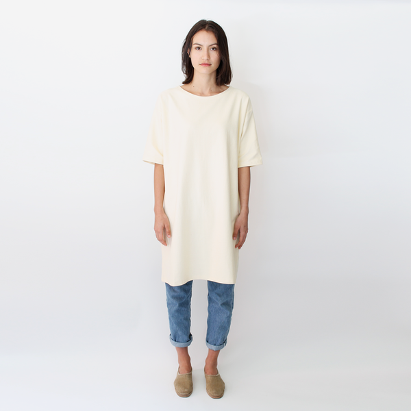 Revisited sweatshirt tee dress nude