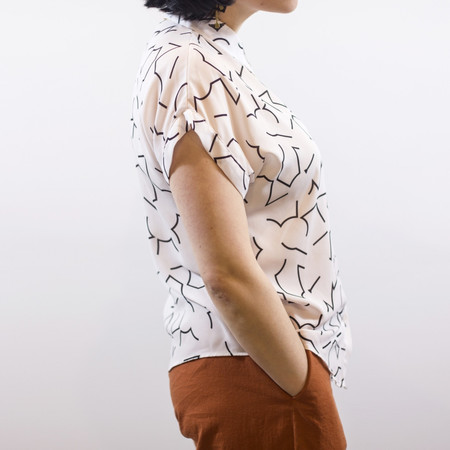Eve Gravel Dream Machine Blouse