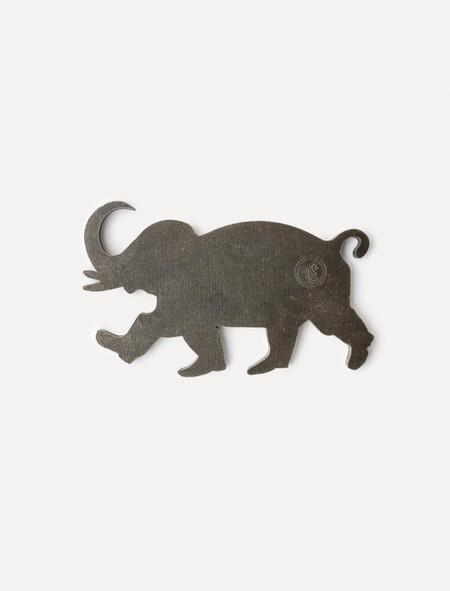 Tender 022 Elephant Bottle Opener Black Steel