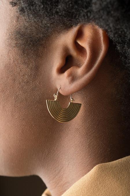 Odette New York Aalto Earrings In Brass