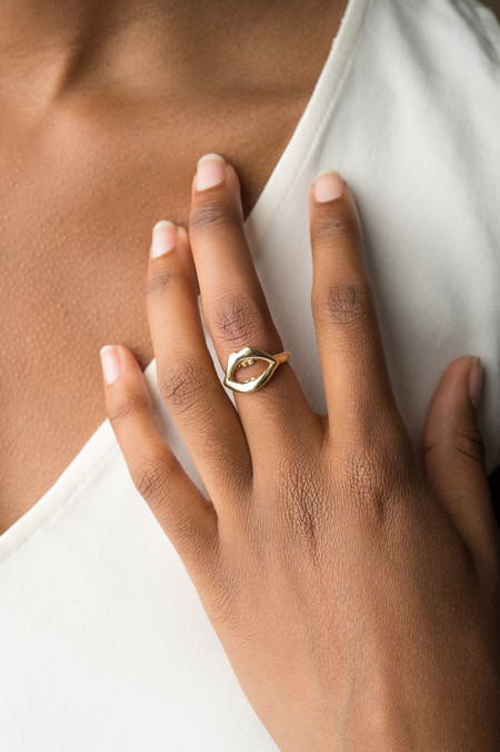 Odette New York Odette x BDB Mouth Ring In Brass