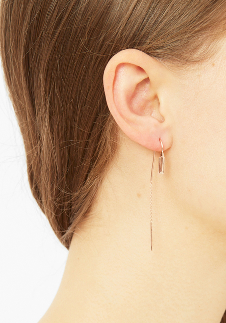 Maria Black Rose Gold Camy Chain Earring