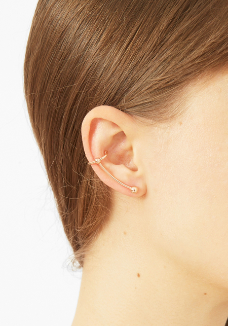 Maria Black Rose Gold Helix Ear Crawler