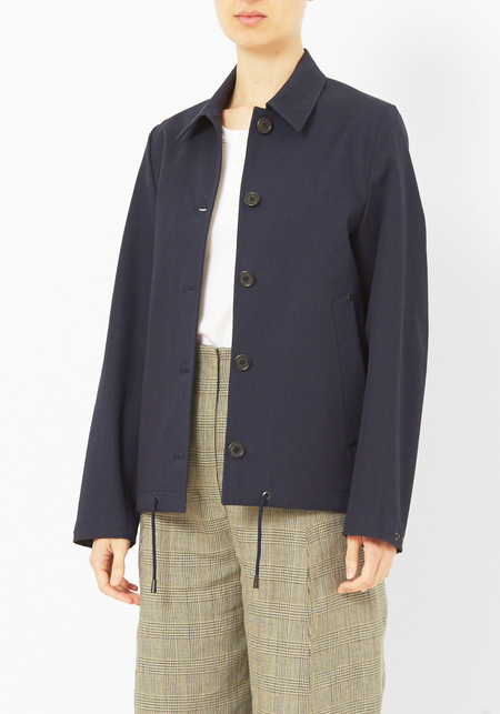 Stutterheim Blaust Coated Canvas Jacket