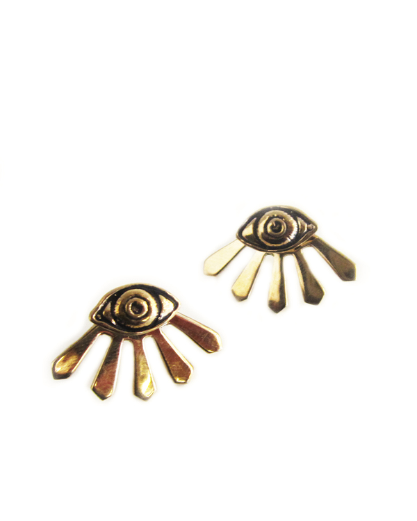 Pamela Love Illuminas Earrings in Bronze