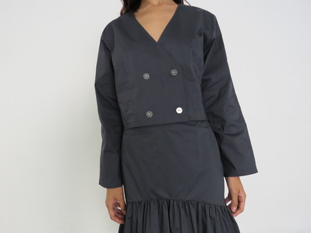MARYAM NASSIR ZADEH GRACE JACKET - NAVY
