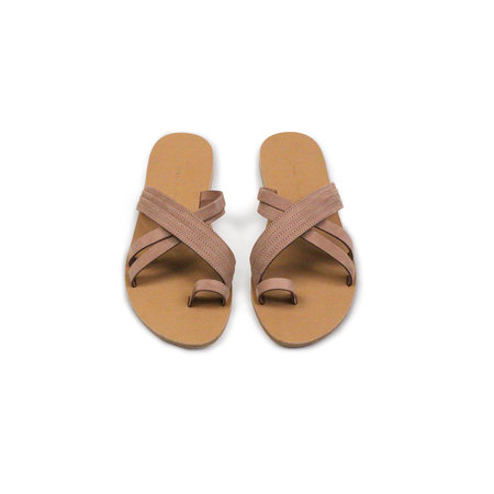 Valia Gabriel Pink Sands Sandal in Rose Taupe