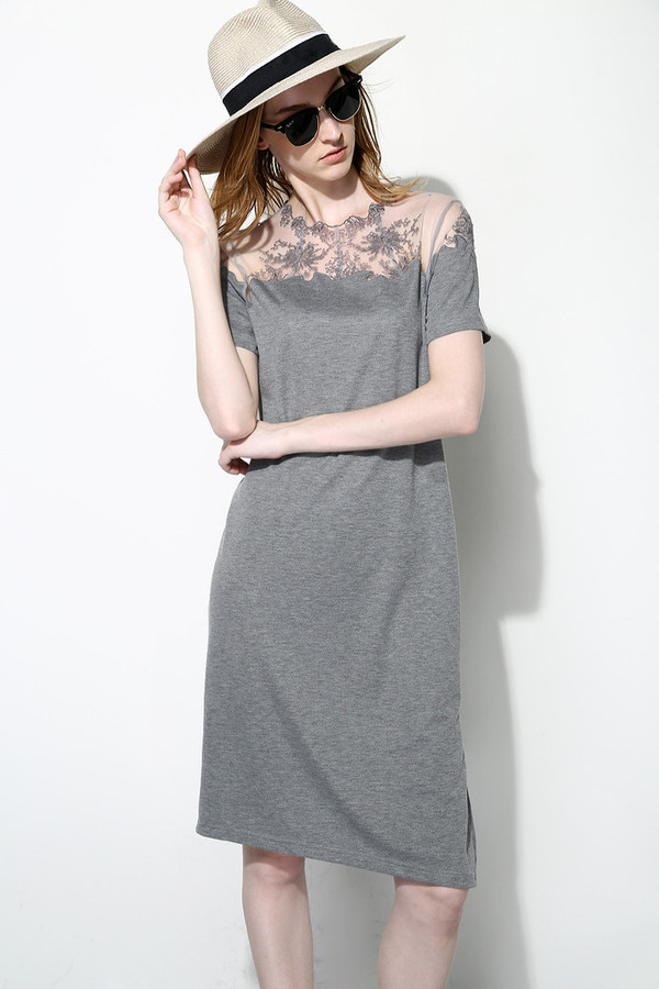 Few Moda Lace Shoulder Dress