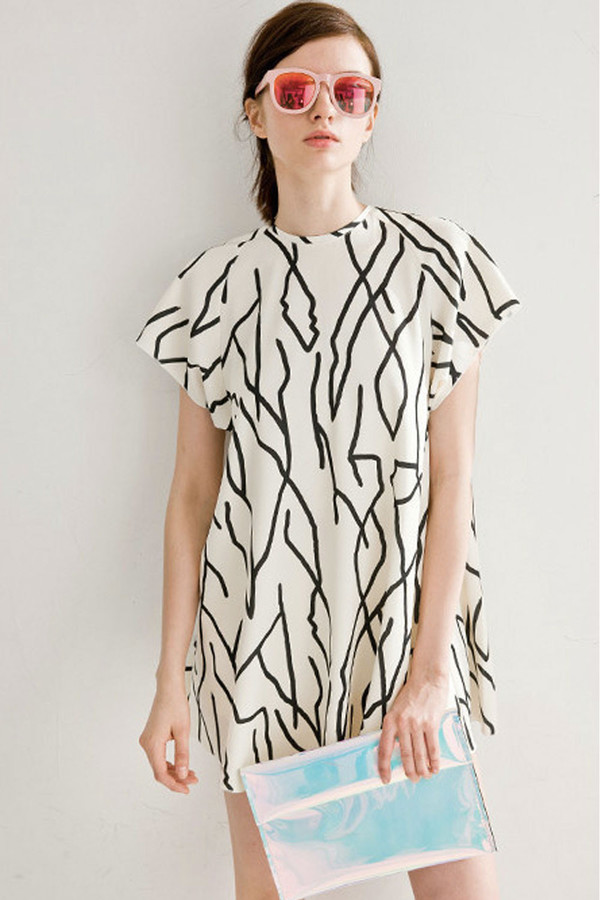 Few Moda Abstract Print Doll Dress