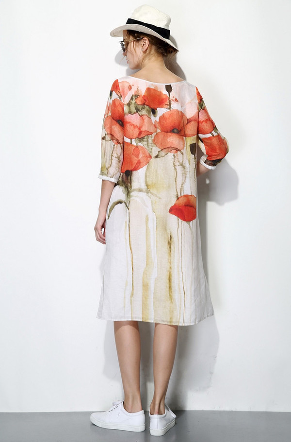 Few Moda Poppy Print Midi Dress