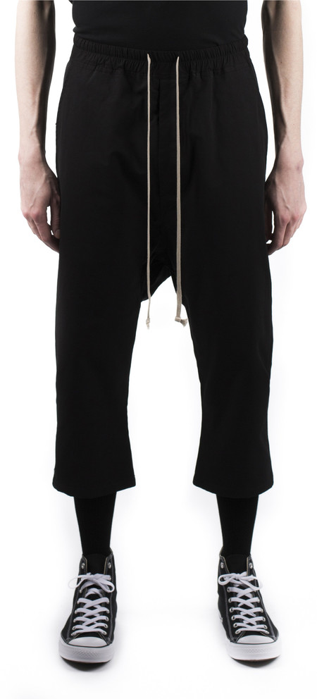 Rick Owens Drkshdw Drawstring Cropped Trousers