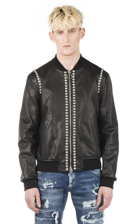 Dsquared2 Studded Leather Bomber