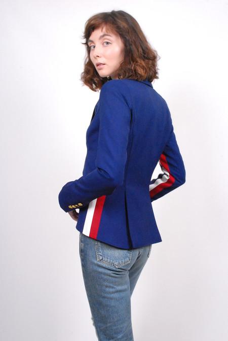 Smythe Racing Stripe Blazer - Cobalt