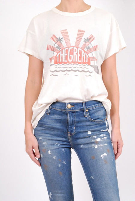 The Great The Palm Crew - Washed White w/ Red & Black Print