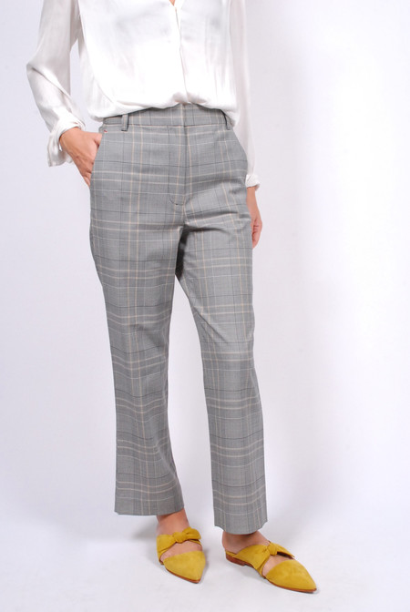 Tibi Jasper Taylor Pants - Grey Multi