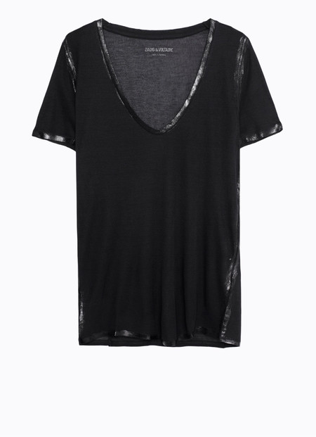 Zadig & Voltaire Tino Foil T-shirt Black