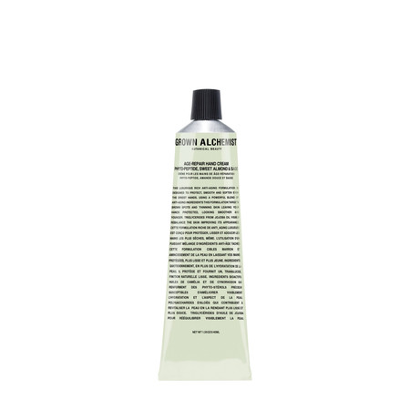 Grown Alchemist Age-Repair Hand Cream: Phyto-Peptide, Sweet Almond & Sage 40mL