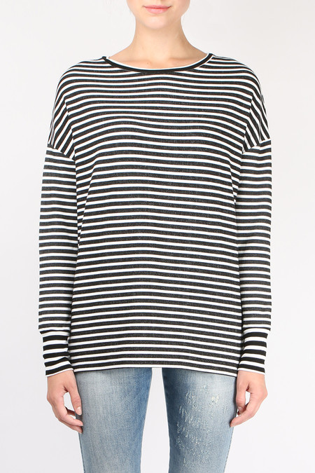 Majestic Filatures Striped Boatneck