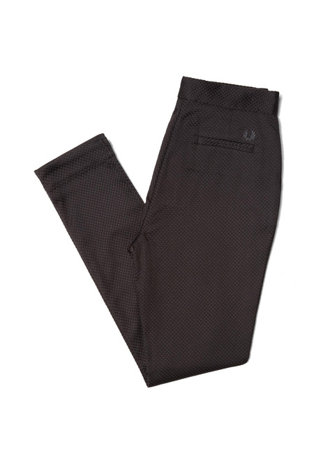 Fred Perry High Waisted Trousers - BLACK