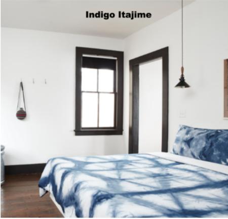 UPSTATE Duvet Cover in Indigo Itajime