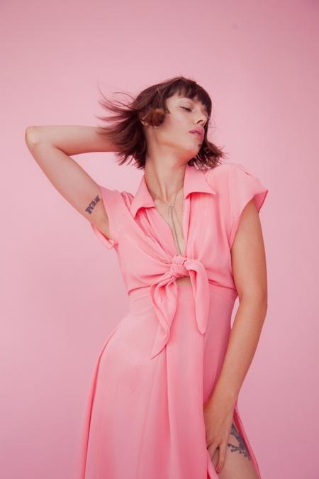 Lindsey Thornburg Pink Clark Dress