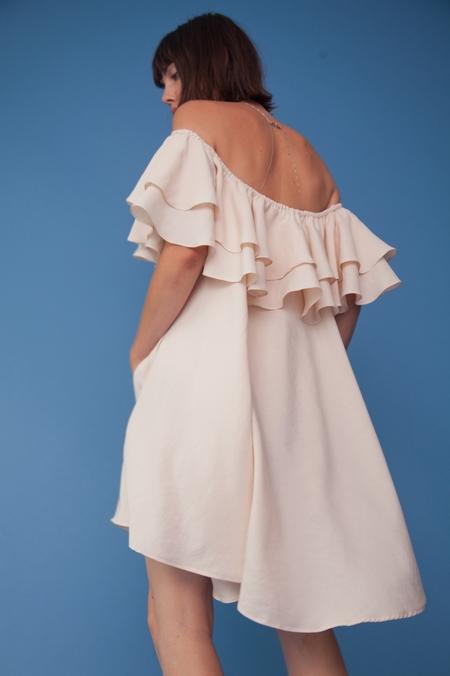 Lindsey Thornburg Blush Madrid Ruffled Dress