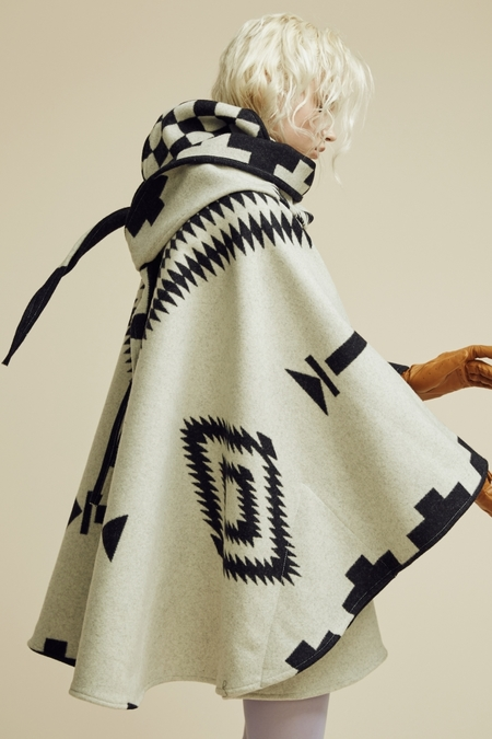 Lindsey Thornburg + Pendleton White Los Ojos Mid-Length Cloak