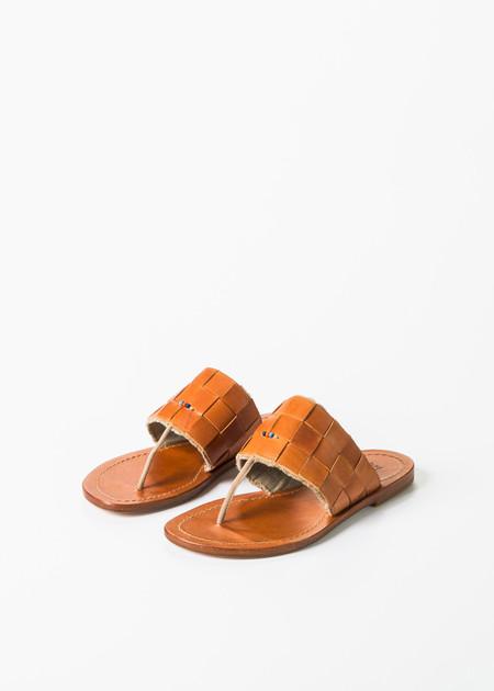 Henry Cuir Woven Slide Sandal