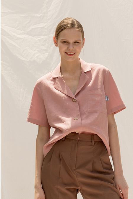 A.A Linen Dora Shirt- Pink