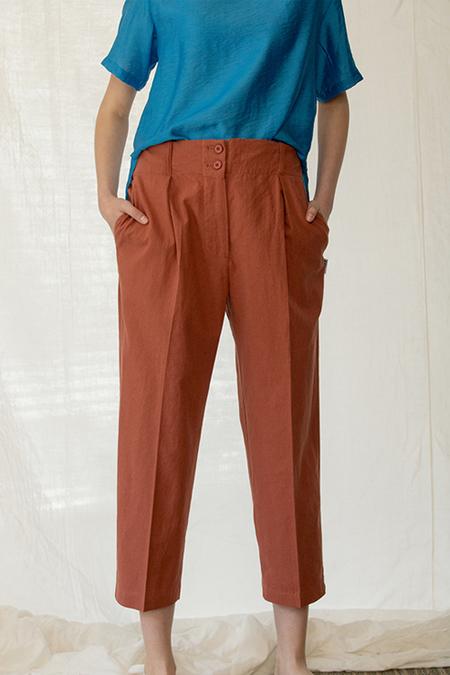A.A Linen Breeze Pants - Rust