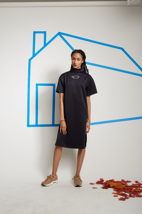 SCAPES NY Embroidered Logo Spandex Dress